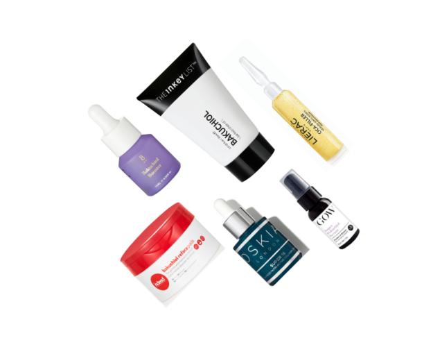 Diverse Hautpflegeprodukte mit Bakuchiol