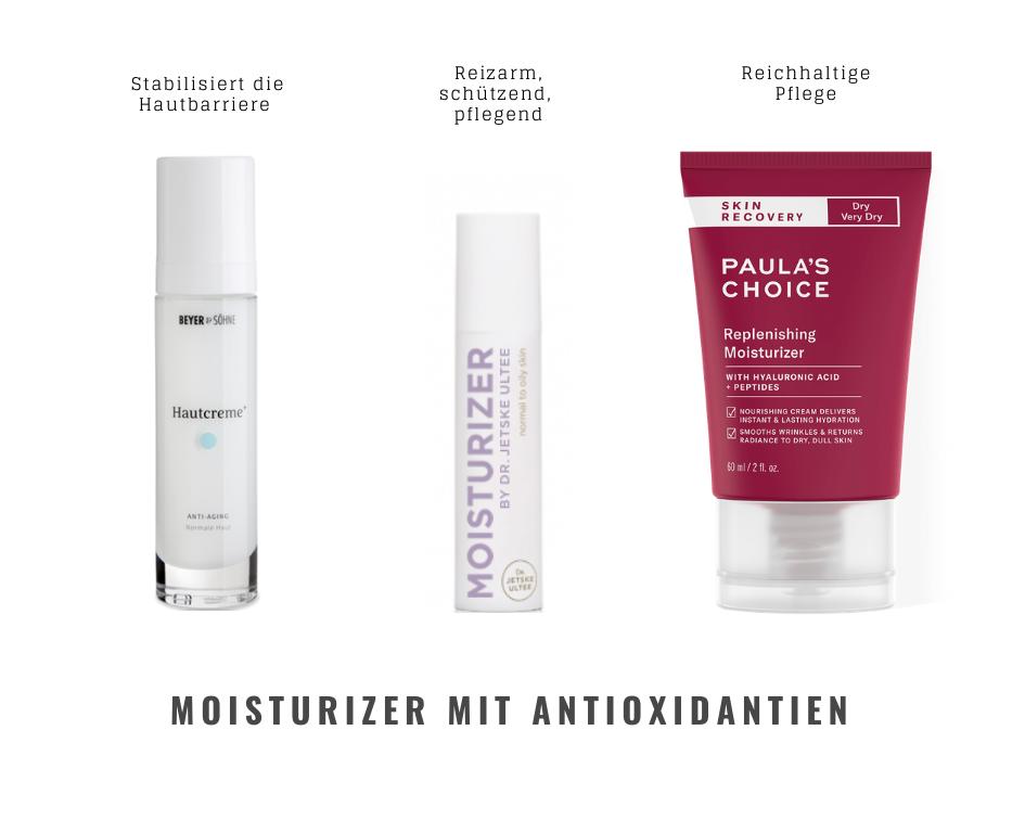 Hautpflegeprodukte, Hautcremes mit Antioxidantien, Paula's Choice, Beyer&Söhne, Dr. Jetske Ultee