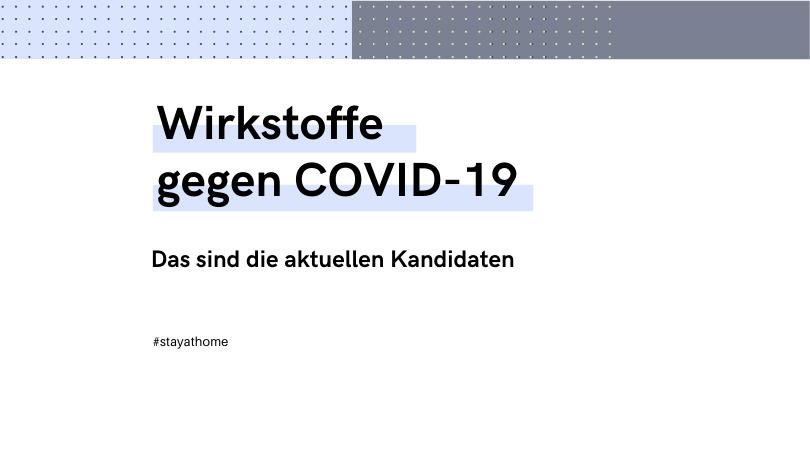 Artikel über die aktuellen Medikamente gegen COVID-19