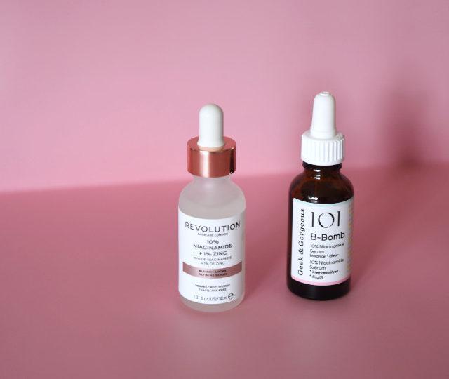 Hautpflege mit Niacinamid, Geek&Gogeous B-Bomb. Revolution Beauty 10% Niacinamide